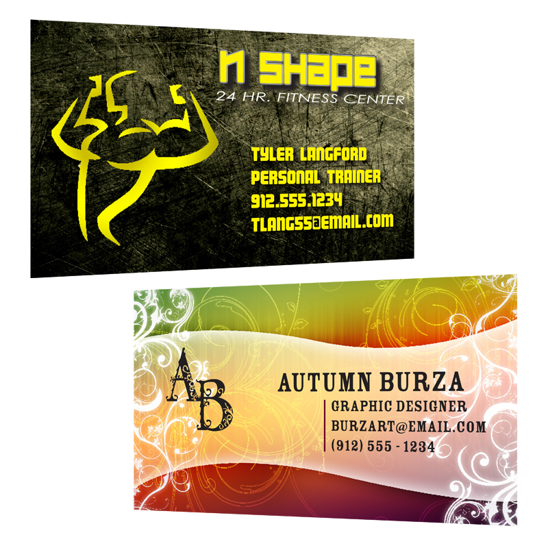 Image of 2 Different Business Cards